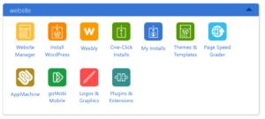 Click on Install WordPress Icon